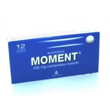 "MOMENT ""200 mg 12 COMPRESSE RIVESTITE"" BLISTER (12CPR RIV 200MG)"