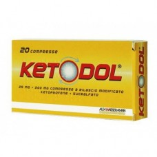 "KETODOL ""20 COMPRESSE"" BLISTER (20CPR 25MG+200MG)"