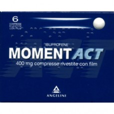 """MOMENTACT """"400 mg 6 COMPRESSE RIVESTITE"""" BLISTER (6CPR RIV 400MG)"""