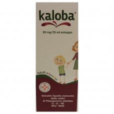 "KALOBA ""266.667 mg SCIROPPO"" FLACONE 100 ml (SCIR FL100ML 20MG/7,5ML)"