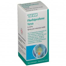 "FLURBIPROFENE TE ""0.25%-37.5 mg SPRAY MUCOSA ORALE"" FLACONE 15 ml (OS SPRAY 15ML)"